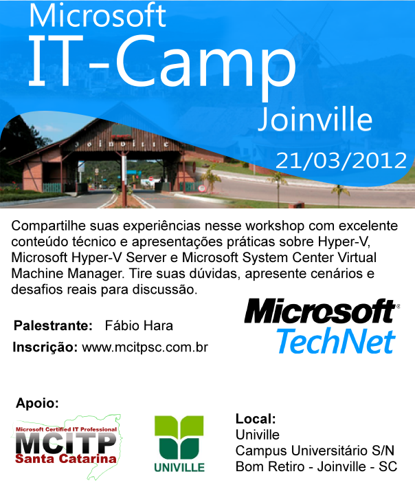 ITCamp Microsoft em Joinville na UNIVILLE